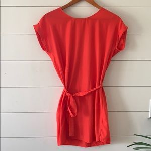 Coral colored Tunic juniors size xs
